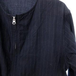 レイジブルー ノーカラーシャツ(ネイビー)