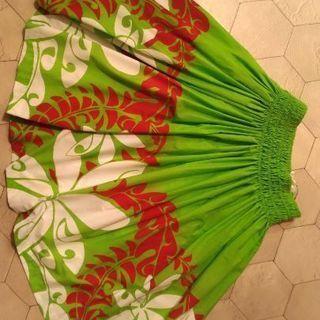 【大人用】グリーン×赤×白パウスカート