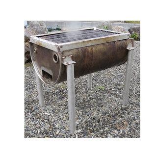 お庭でバーベキュー BBQ ステンレス ドラム缶 バーベキューコン...