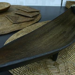 バリ島のココナッツリーフのインテリアオブジェ-新品(在庫処分品)
