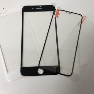 (中国語対応OK)iPhone用強化ガラスフィルム/衝撃吸収フィ...