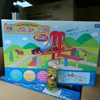 新品 木製トレイン&レールセット − 岡山県