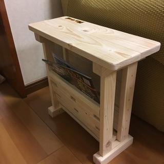 【受注製作】手作りソファーサイドテーブル(新品)