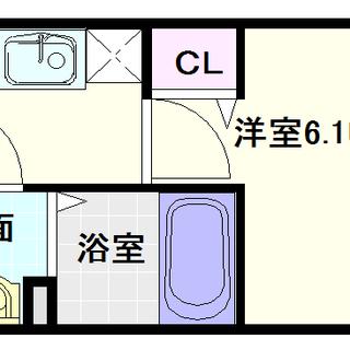 【プレサンス難波ヴィータ】1Kタイプ!ガス2口コンロで料理がしやすい!!