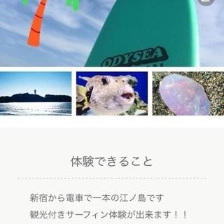 江ノ島観光付きsurf🏄♂️ボディーボード体験‼️