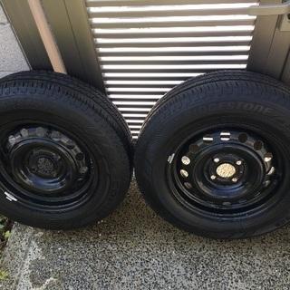 (商談中)185/70r14 鉄ホイール&タイヤセット(E12...