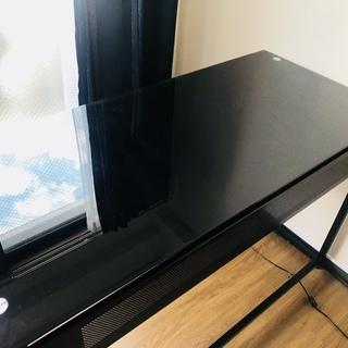★11/24まで★【美品】おしゃれな勉強机・パソコンデスク・黒色