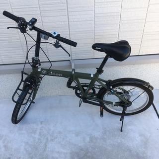 美品‼️折りたたみ自転車 jeep JE-206G カギ・ライト付き
