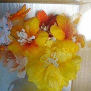 成人式用髪飾り(黄色)
