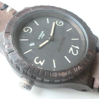 【WEWOOD!】 木製腕時計 ALPHA SW BLACK R...