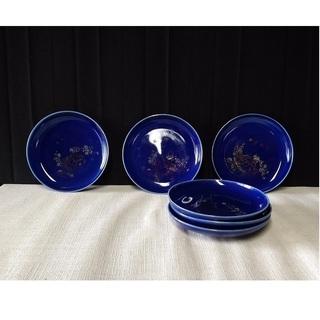 瑠璃 小皿 6枚  c11