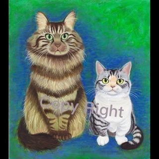 愛猫さんの肖像画をお描きします