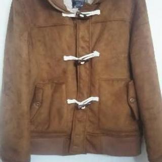 増税にめげずSALE:茶色のフェイクムートンのジャケット