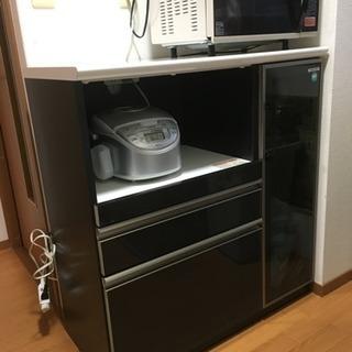 日本製 食器棚 カウンター レンジ台 キッチン収納 収納家具