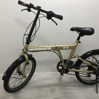 HUMMER ハマー 折りたたみ6変速自転車 ゴールド