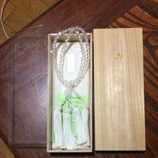 新品 2連数珠 本水晶
