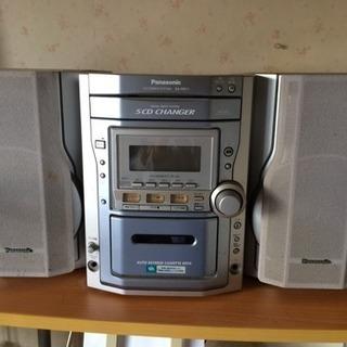 パナソニック CD&テープ コンポ