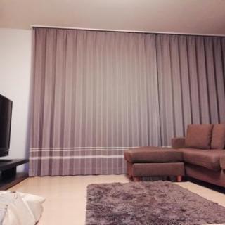 遮光オーダーカーテン プリーツ加工の画像