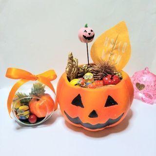 テラリウムとジャックオーランタンの秋の詰め合わせセットの画像