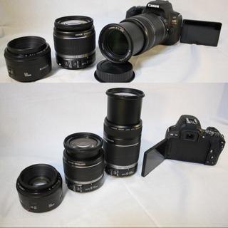 Canon Kiss x9 標準&望遠&単焦点トリプルレンズセット