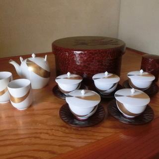 <値下げしました>【未使用】ノリタケ ダイヤモンドコレクション 茶器セット5客他 高岡漆器 茶ひつ他の画像