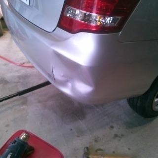 車の板金塗装!お安く直します!代車見積り無料です!
