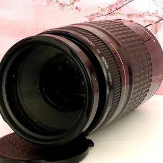 簡単・高機能⭐︎ど迫力300mm超望遠レンズ⭐︎キャノン 75-3...