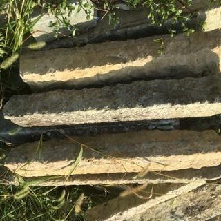 庭石 石材 10月限定 古民家使用 石段使用 多目的使用