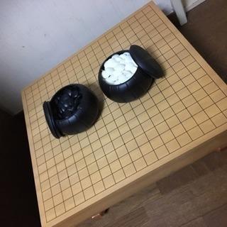 <値下げ>囲碁の碁盤・碁石