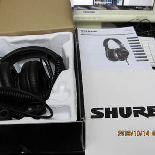 SHURE(シュアー)ヘッドホンSRH440(箱、説明書付き)値...