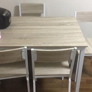 【取引終了】ダニングテーブルとイス(4足)(美品)