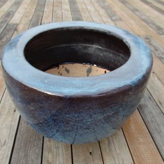 ☆ 艶やかな青色が美しい 火鉢 直径48cm ☆
