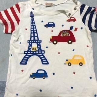 ミキハウス90Tシャツ3枚セット