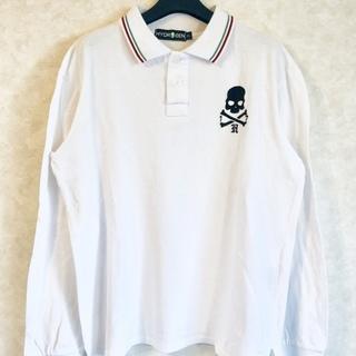 HYDROGEN 長袖ポロシャツ ホワイト