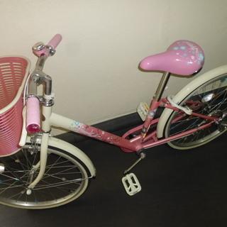 子供用 女児 自転車 エコパル 22インチ 4年使用