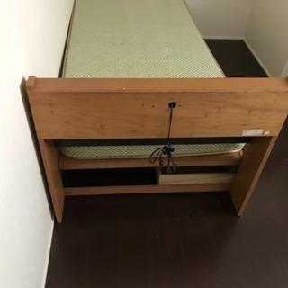 収納付きシングルベッド