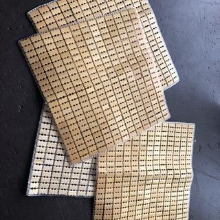 ひんやりドミノ 竹 シート チェアカバー