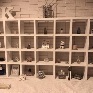 フレンチシック インテリア オープン飾り棚 ホワイト
