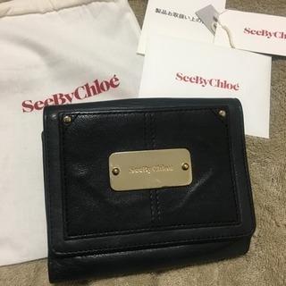 シーバイクロエ seebychloe 財布 ブラック