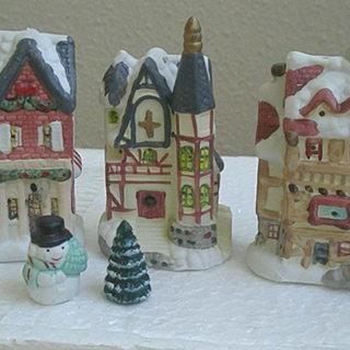 🎄 灯りがともる小さなクリスマスハウス5個セット