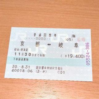 【JR】岐阜‐京都 切符