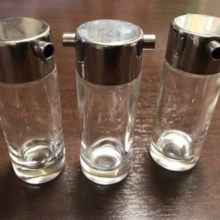 【店舗用品】調味料入れ オイルボトル ガラス製 3個セット