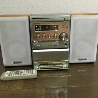 CDコンポ MD カセット ラジオ...
