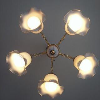 シャンデリア 照明 アンティーク調 ゴールド
