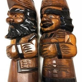 アイヌ 仲良しカップル 木彫り人形 ⭐️2ペアまとめて❗️