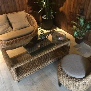 バリ風 ソファー テーブル セット