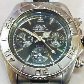 ELGIN エルジン クロノグラフ チタン メンズ 腕時計