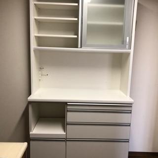 【キッチンボード】ホワイト☆松田家具 幅110
