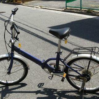 自転車 5段ギア 青
