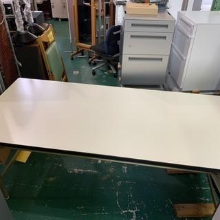 折れ脚テーブル 食堂や事務所に 希少サイズ W1800 H700 ...
